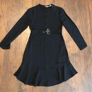 A.L.C. Black Belted Cocktail Dress LBD Size 4